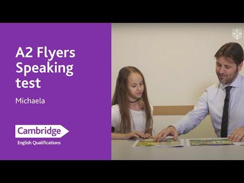 A2 Flyers Speaking test – Michaela   Cambridge English