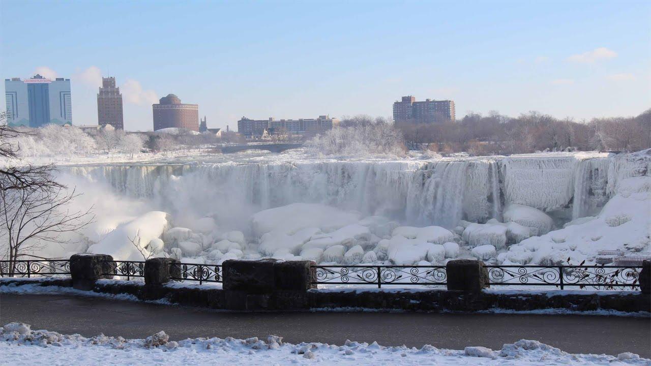 Niagara Falls Waterfall Wallpaper Niagara Falls Frozen 2015 Youtube