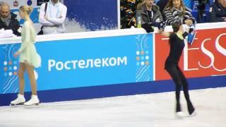 Евгения Медведева, ПП, тренировка ЧР 2017