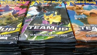 1,000 Team Up Booster Pack Opening! AND BOX GIVEAWAY! Pokemon TCG