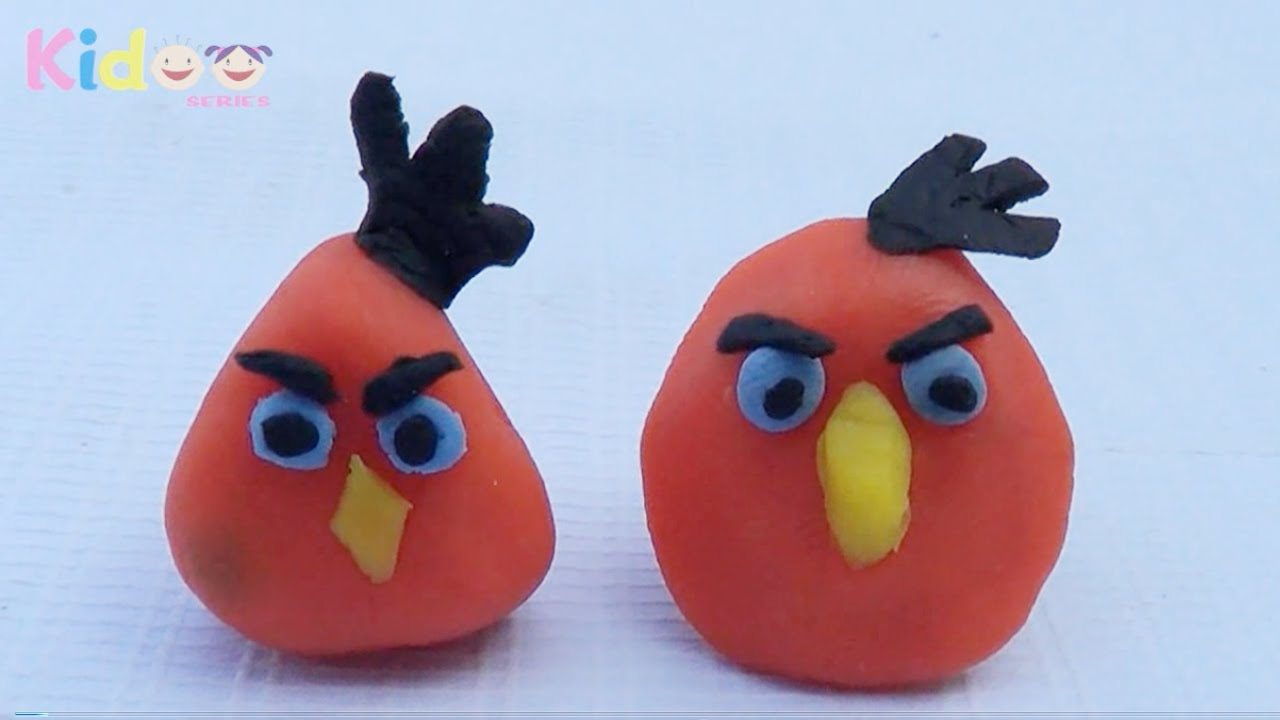 clay model tutorial from angry bird -toys with clay - angry birds
