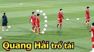 Thử Thách Bóng Đá đi xem HLV Park Hang Seo Quang Hải Công Phượng và ĐT Việt Nam tập Asian Cup 2019
