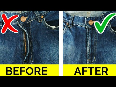 8 CRAZY GENIUS IDEAS FOR JEANS / CLOTHING TRICKS HACKS TO KEEP YOU LOOK FLY FOR GIRLS YOU MUST KNOW. http://bit.ly/2zwnQ1x