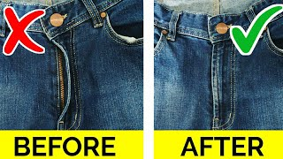 8 CRAZY GENIUS IDEAS FOR JEANS / CLOTHING TRICKS HACKS TO KEEP YOU LOOK FLY FOR GIRLS YOU MUST KNOW