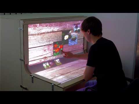 Смотреть BendDesk: Multi-touch on a Curved Display онлайн
