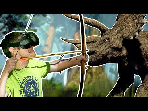 SURVIVE AND HUNT ON A JURASSIC PARK DINOSAUR ISLAND IN VR! - Island 359 HTC VIVE Gameplay