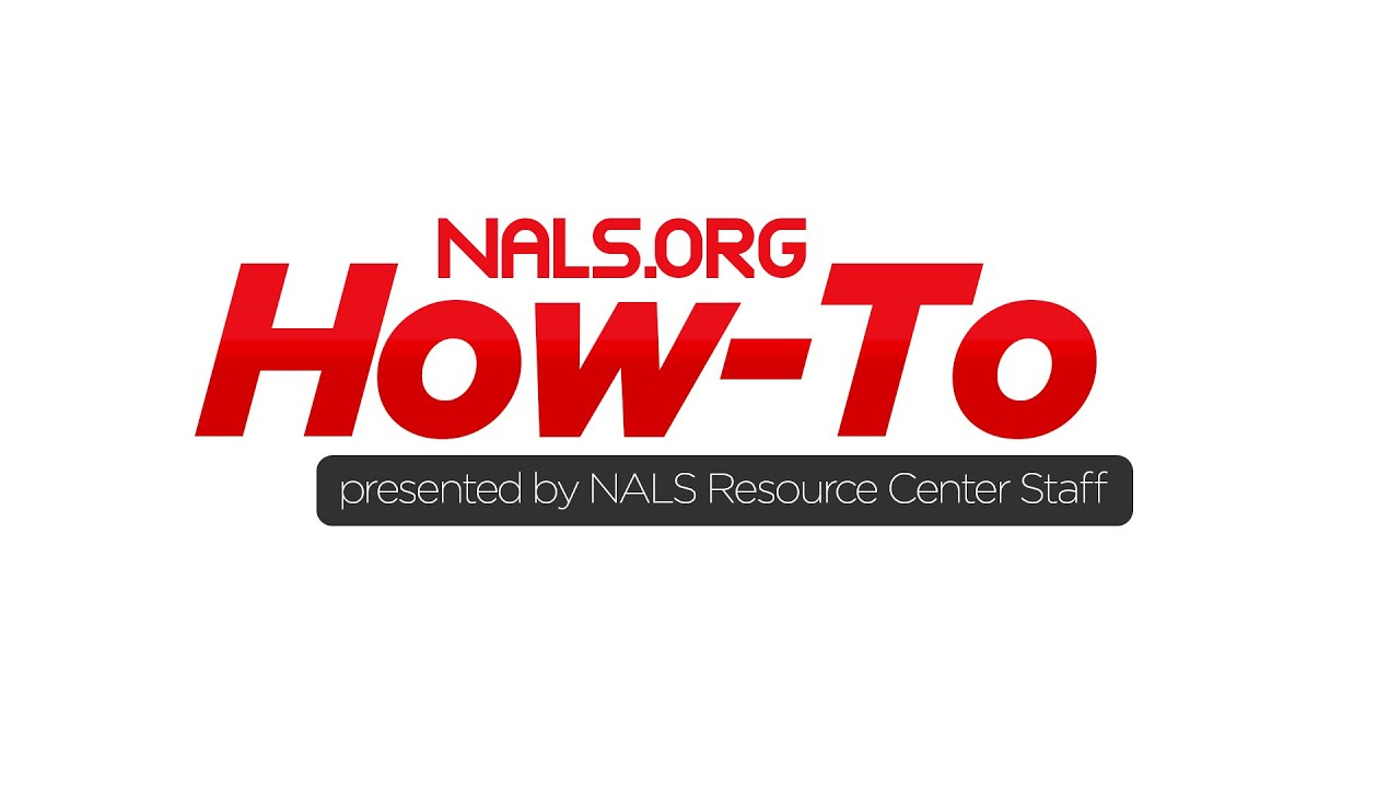 Nals How To Video 1 Logging Into Nals Youtube