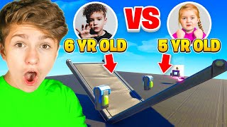 5 YEAR OLD Vs. 6 YËAR OLD (Youngest Fortnite Players 1v1)