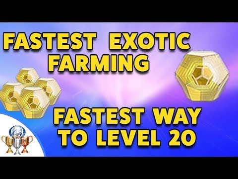 Destiny 2 Best EXOTIC Engram Farming - Quickest way to Reach LEVEL 20, Power Level 265