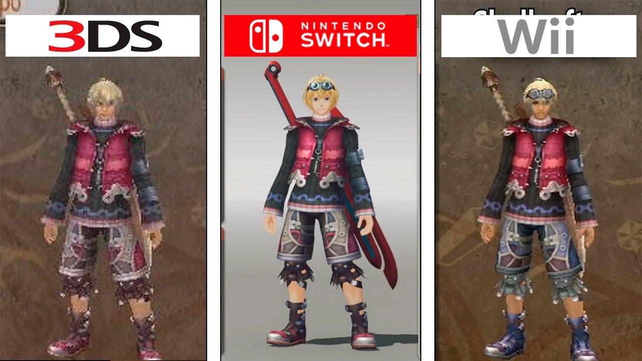 Συγκριτικό του Xenoblade Chronicles σε Wii, New 3DS και Switch