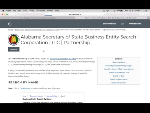 How to Start a Business Entity in Alabama | AL Secretary of State