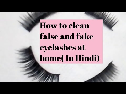 How to clean false and fake eyelashes at home( In Hindi) || MJ beauty and tips