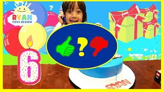 Ryan's 6th Birthday Party! First Cell Phone Surprise Toys Opening Presents Roblox - Video Review