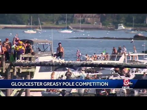 Annual Gloucester Greasy Pole Contest Held