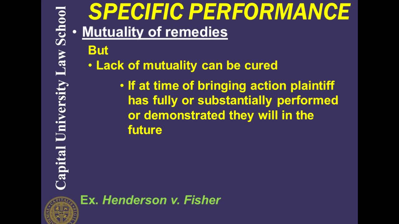 specific performance example