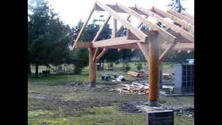 Frontier Log And Timber Log And Timber Shelter 24' X 80'