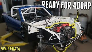 homepage tile video photo for AWD Miata Gets an UPGRADED CLUTCH & BIGGER TURBO! Ready to Make POWER!