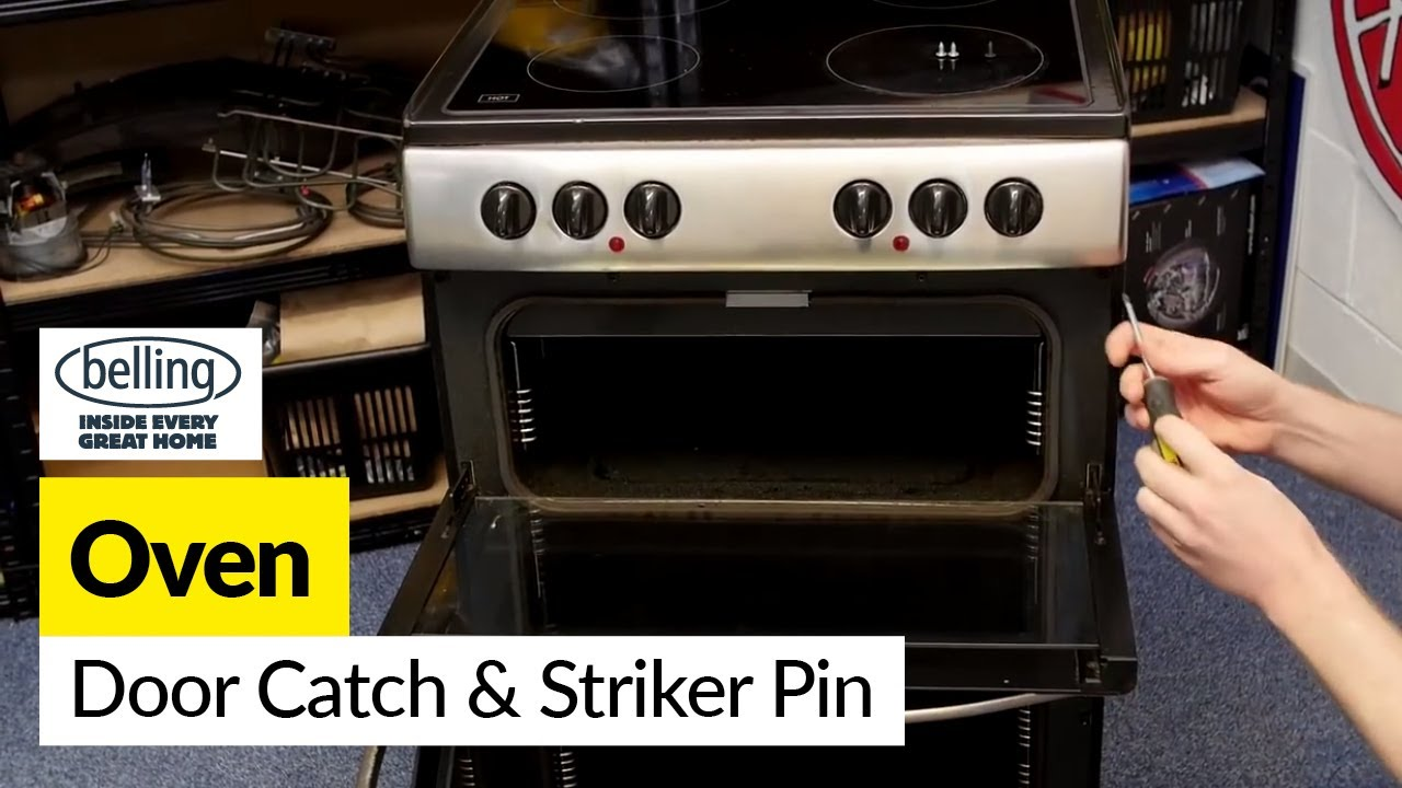 How To Fix A Oven Door Catch Or Striker Pin Belling Youtube Locked And Error F30 Help On Hard Wiring Wall