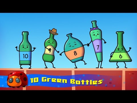 10 Green Bottles - Nursery Rhymes For Kids - JellyBug