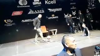 Хабиб Нурмагомедов сыграл в футбол с казахским Ником Вуйчичем