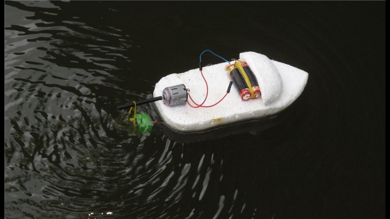 Comment faire un bateau lectrique tr s simple bateau - Comment fabriquer un coffre a jouet en bois ...
