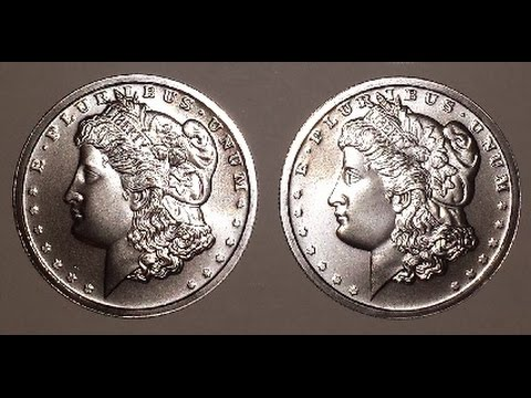 BULLION ROUNDS LOT - 4 MORGAN DOLLAR DESIGN ROUNDS (.999 FINE SILVER - 1 TROY OZ. EACH)