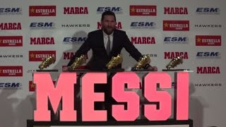 Lionel Messi claims record 5th Golden Boot