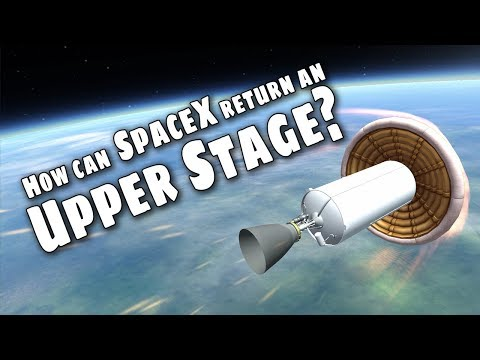 SpaceX upper stage recovery - Can they do it? - KSP Simulation