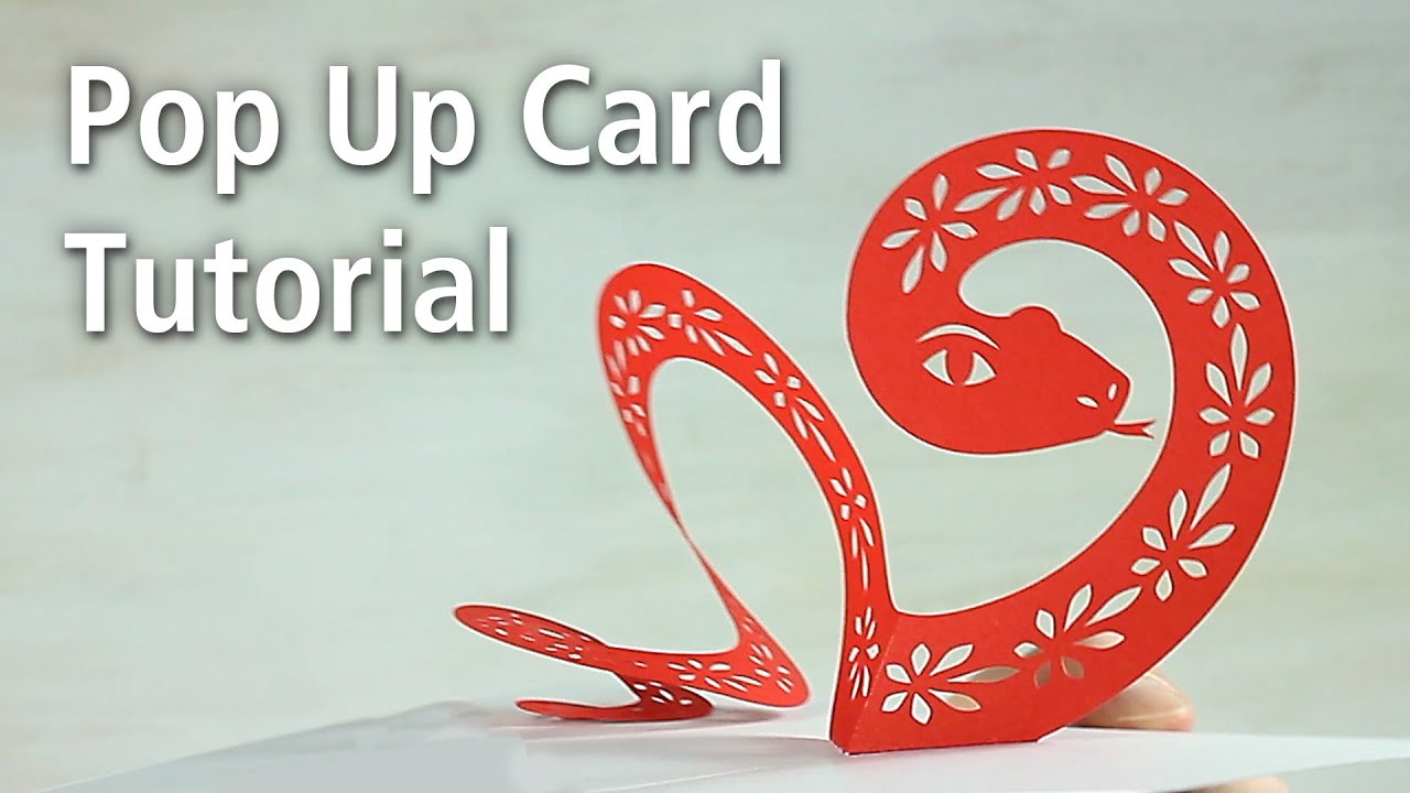 "pop up card tutorial ""snake"" youtube"