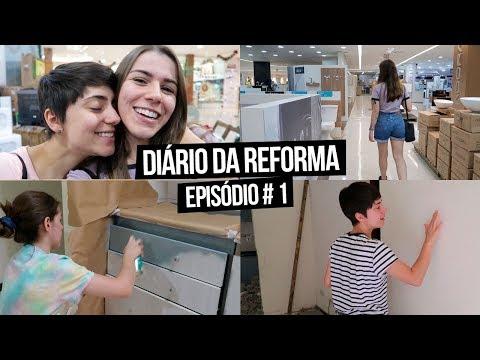Diário da Reforma #1 - Lojas, Revestimentos, Pintando a Cozinha | Mi Alves