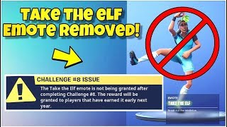 "UPDATE - ""TAKE THE ELF"" EMOTE REMOVED! Fortnite Battle Royale (Take The Elf Glitch) 2019 Release"