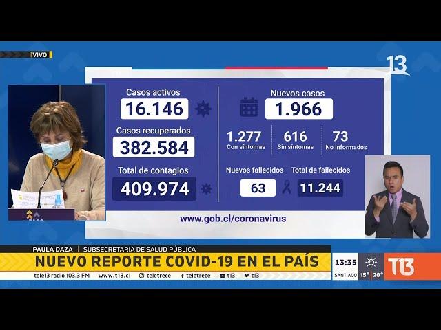 Coronavirus en Chile: balance 30 de agosto