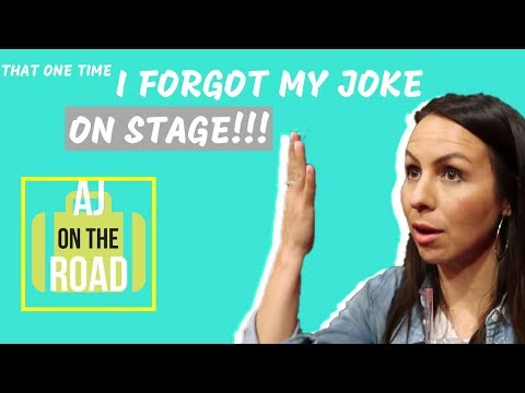 That One Time I Forgot My Joke On Stage - AJ On The Road
