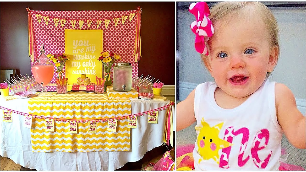 YOU ARE MY SUNSHINE FIRST BIRTHDAY DIY YouTube