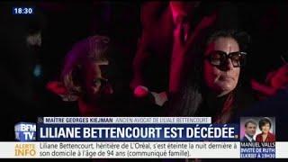 Mort de Liliane Bettencourt: