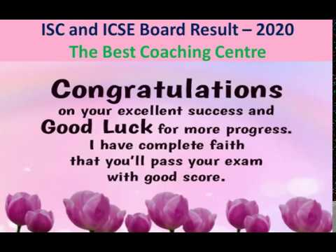 Result Isc And Icse Board 2020 Congratulations On Your Excellent Success Youtube