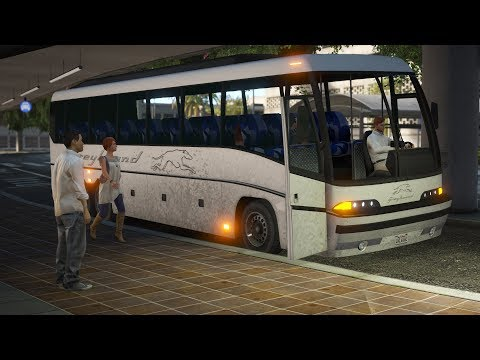 Los Santos Goes to Work - Day 28 - Greyhound Bus Driver |