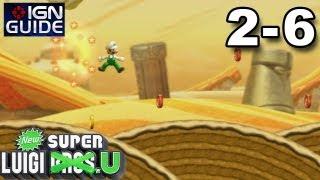 New Super Luigi U 3 Star Coin Walkthrough - Layer-Cake Desert-6: Spinning Sandstones