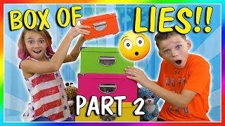 BOX OF LIES! HA! | CHALLENGE PART 2 | We Are The Davises
