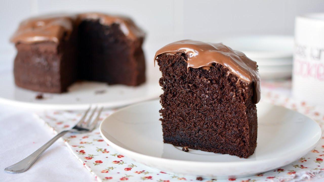How To Make A Simple Chocolate Cake Easy Homemade