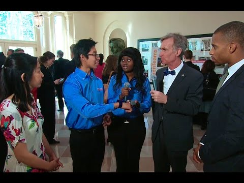 Bill Nye the Science Guy Interviews White House Science Fair Participants