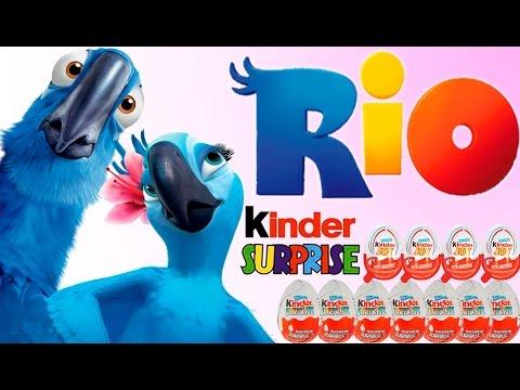 Киндер сюрприз Рио 8 сюрпризов 4 joy на русском языке 2008 2009 2011