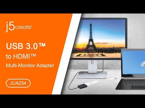 JUA254 USB™ to HDMI™ Multi-Monitor Adapter | j5create