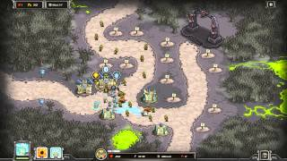 Kingdom Rush Walkthrough - Rotten Forest - Iron Challenge [Steam version][HD]