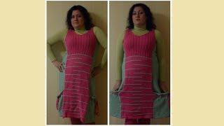 Платье-сарафан спицами, 3 часть. Финал.