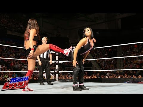 The Bella Twins & Natalya vs. AJ Lee, Tamina & Aksana: WWE Main Event, Dec. 25, 2013