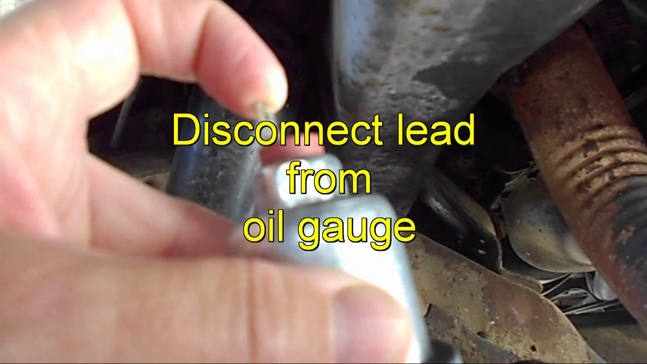 How To Test Oil Pressure Switch And Oil Pressure Chevy Gmc