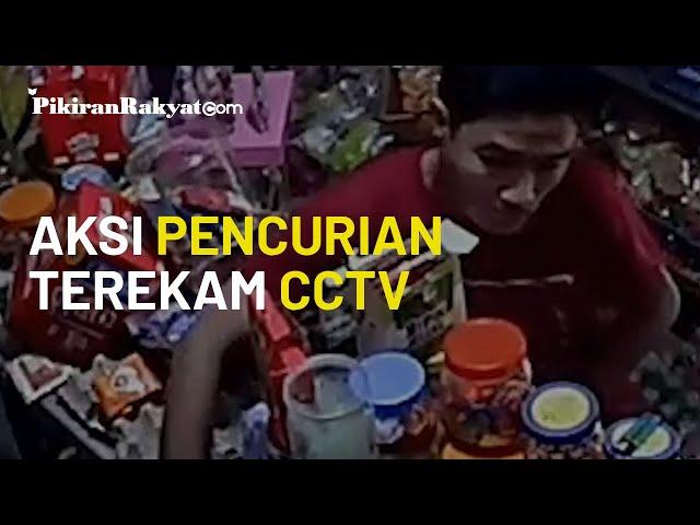 VIRAL! Aksi Pencurian di Sebuah Warung di Kota Cimahi Terekam CCTV, Wajah Pelaku Terpampang Jelas