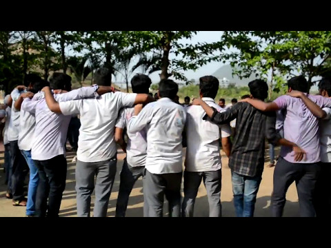 vtec students ..btech last day celebrations... congo rain dance