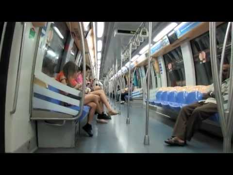 Singapore MRT ride
